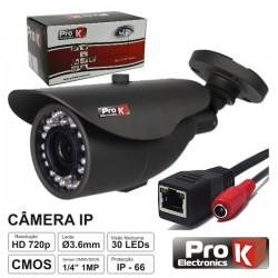 """Câmara Vigilância Ip cmos Cores 1 Mega 1/4"""" Prok"""