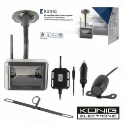 """Kit de Estacionamento c/ Camara E Visor Lcd 3.5"""" 12V Konig"""