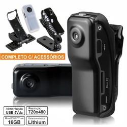 Câmara Vigilância Miniatura c/ Áudio Bateria E Acessórios