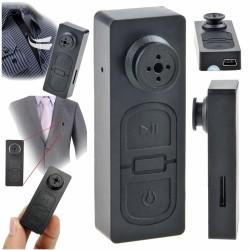 Câmara Vigilância Miniatura c/ Áudio Bateria Botão 720P