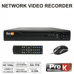 Vídeo-Gravador Digital Ip 8 Canais H264 Ethernet Prok