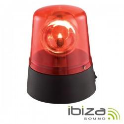 Pirilampo Leds Rotativo 360º Vermelho Ibiza