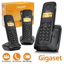Conjunto 3 Telefones S/ Fios A120 Preto Gigaset
