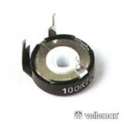 Potenciómetro Piher 2K2 Metálico c/ Ajuste