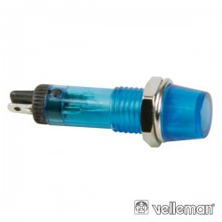 Luz Piloto Redondo Azul 8mm 12V Velleman
