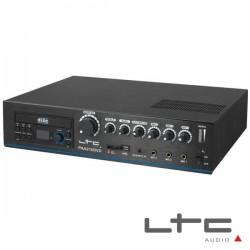 Amplificador 4 Canais Pa 100V 24/220V 210W Usb/Dvd/Sd Ltc