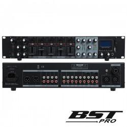 """Pré-Amplificador 19"""" 2U Matrix 5X2 12 Entradas Cd/Usb Bstpro"""