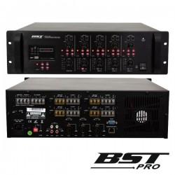 """Amplificador 19"""" 5 Canais Pa 100V 4 Zonas 4X120W Mp3 Usb/Sd"""