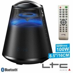 Coluna Bluetooth Portátil Preta100W Usb/Bt/Fm/Aux/Bat Ltc