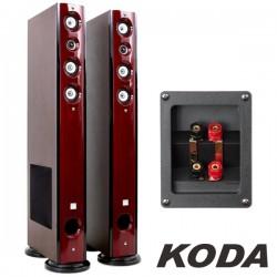 Conjunto 2 Colunas Hifi 4 Vias 120W Vermelhas Koda