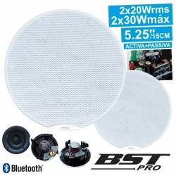 """Conjunto 2 Colunas de Tecto c/ Bluetooth 5.25"""" 30Wmáx Bstpro"""