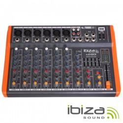 Mesa de Mistura 8 Canais 6 Entradas Usb/Gravação Ibiza