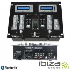 Mesa de Mistura 2 Canais 7 Entradas Usb/Bt/Sd Ibiza