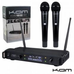 Central Microfone S/Fios 2 Canais Uhf 863.0/864.0Mhz Kam