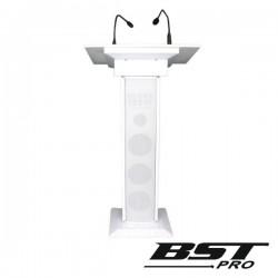 Sistema Conferência Amplificado 3 Colunas Mic Luz 90W Branco
