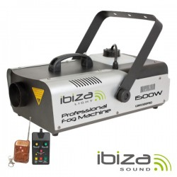 Máquina de Fumos 1500W Controlador/Comando Dmx Ibiza
