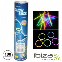 Conjunto 100 Barras Maleáveis Iluminados 5 Cores Ibiza