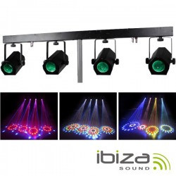Barra 1.2Mt c/ 4 Projectores LED Rgbaw Total 228 Leds Ibiza