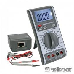 Multímetro Digital 3 Em 1 c/ Testador Redes/Linhas Velleman