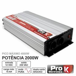 Conversor 12V-230V 2000W Onda Sinusoidal Pura Prok
