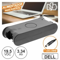 Alimentador p/ dell 19.5V 3.34A 65W 7.4X5.0mm