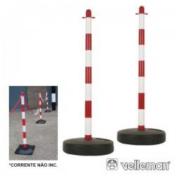 Poste Em Plástico p/ Corrente Segurança 2X Velleman