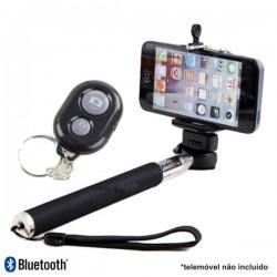 Vara Telescópica Monopod p/ Selfies 220-1080mm c/Comando Bt