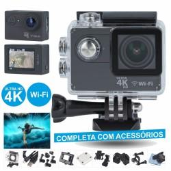 Camara de Acção Wi-Fi Ultra Hd 4K 12Mp c/ Gravação Vídeo