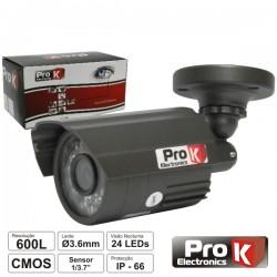 Camara Vigilância cmos Cores 600L 1/3.7 Ip66 Prok