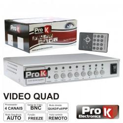 Processador de Vídeo Quad 4 Câmaras Cores Prok