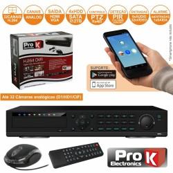 Vídeo-Gravador Digital 32 Canais H264 Ethernet Prok