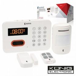 Kit Alarme S/Fios c/Sensores E Comando