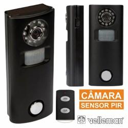 Alarme c/ Sensor Movimentos Pir Câmara E Comando Velleman
