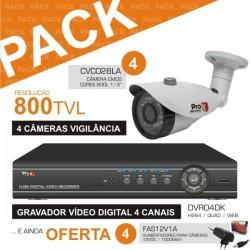 Pack Vigilancia 12A: Dvr04Dk + 4X Cvc028La