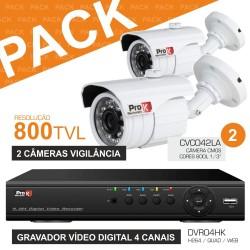 Pack Vigilancia 12D: Dvr04Hk + 2X Cvc042La