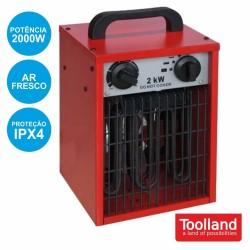 Aquecedor Termoventilador Industrial 2000W Ipx4 - TOOLLAND