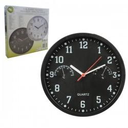 Relógio de Parede de Ponteiros c/Termómetro E Higrómetro