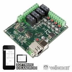 Kit Placa de Relés Ethernet Velleman