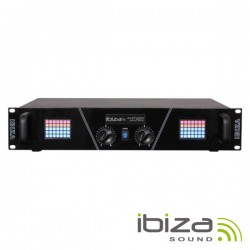 "Amplificador Áudio 19"" 2X800W Display LED Matrix Ibiza"