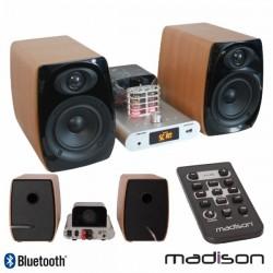 Sistema Áudio A Válvulas 2X60W Vintage Usb/Bt/Fm Madison