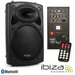 """Coluna Bi-Amplificada 12"""" 700Wmáx Usb/Bt Ibiza"""