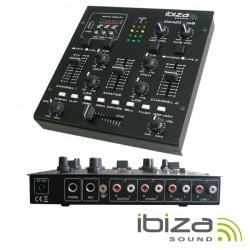 Mesa de Mistura 3 Canais 5 Entradas Usb/Sd Ibiza
