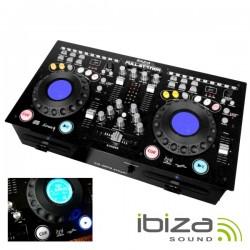 Mesa de Mistura c/ Leitor Duplo Cd/Usb/Sd E Iluminação Ibiza
