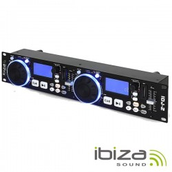 Leitor Usb/Sd Duplo 2U Scratch Multi-Efeitos Ibiza