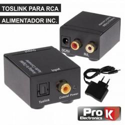 Conversor Audio Toslink -» Rca - Prok