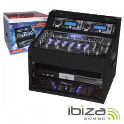 Rack c/ Amplificador Mesa Mistura Leitor Duplo 2X480W Ibiza