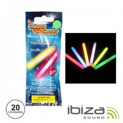 Conjunto 20 Barras Maleáveis Iluminados Multicor 100mm Ibiza