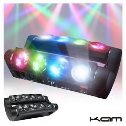 Projector Luz c/ 8 Leds 10W Cree Rgbw 2 Barras Dmx Kam