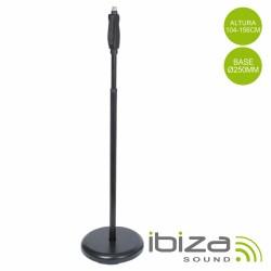 Suporte p/ Microfone Preto 104-156cm Ibiza