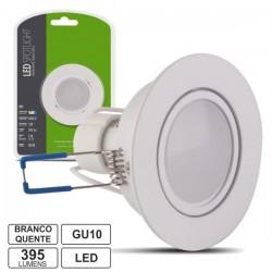 Lâmpada LED c/ Suporte Redondo Branco 220V 5W Branco Quente 395Lm